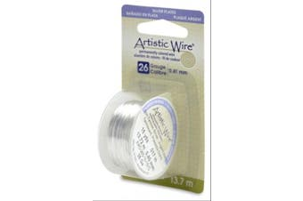 (1 Pack) - Artistic Wire 26-Gauge Tarnish Resistant Silver Wire, 15-Yard