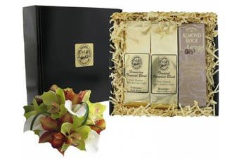 Gourmet Coffee Gift of Dark Roast Kona Hawaiian Coffee and Almond Roca Candy, Ground Coffee, for Fathers Day, Birthdays and All Occasions