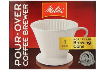 (1) - Porcelain 2 Cone Brewer Coffee Maker