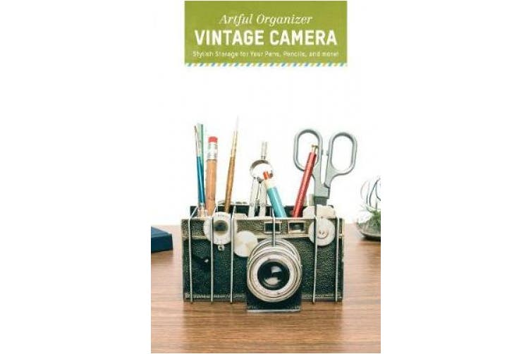 Artful Organizer: Vintage Camera: . Storage for Your Pens, Pencils, and More!