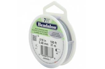 Beadalon 7-Strand Bead Stringing Wire, 0.05cm , Satin Silver, 30m