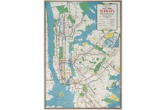 Cavallini Decorative Paper - New York City Subway Map 50cm x 70cm Sheet