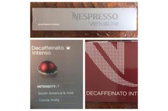 10 Capsules Nespresso VertuoLine Decaffeinato Intenso Coffee