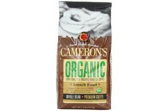 (32 Ounce) - Cameron's Coffee Roasted Whole Bean Coffee, Organic French Roast, 950ml