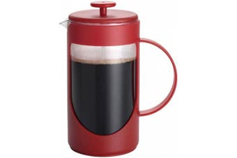 (3-Cup, Rouge Red) - BonJour Ami-Matin Unbreakable BPA Free with Flavour Lock Brewing French Press, 3-Cup, Rouge Red