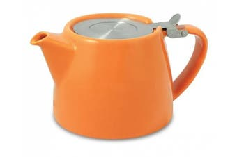 (Carrot) - FORLIFE Stump 530ml Teapot with SLS Lid and Infuser, Carrot