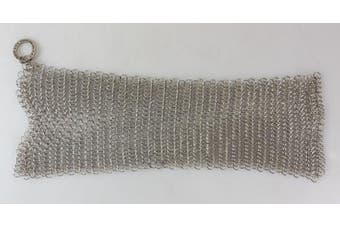 The Ringer Cast Iron Cleaner XL 20cm x 15cm Stainless Steel Chainmail
