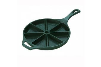 Lodge Logic L8cb3 Pre Seasoned Cast Iron 23cm Round Cornbread Wedge Pan