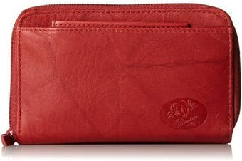 (Red) - Buxton Heiress Double-Zip Organiser Wallet