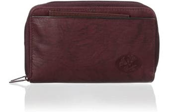 (Burgundy) - Heiress Double Zip-Around Indexer (Burgundy)