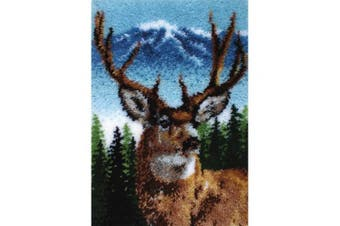 (Deer) - Caron Classics CC0102 50cm by 80cm Latch-Hook Kit, Deer