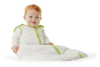 (Large (18-36 Months), White/Lime) - Baby Deedee Sleep Nest Sleeping Sack, Warm Baby Sleeping Bag fits Newborns and Infants,Large (18-36 Months)