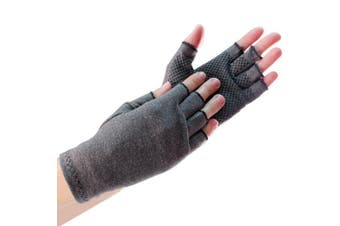 (Mens) - Compression Gloves with Grips - Mens