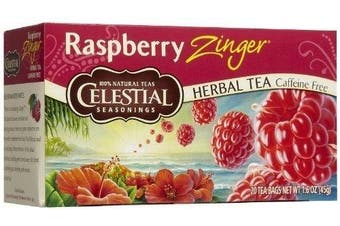 Celestial Seasonings Raspberry Zinger Tea Bags, 20 ct