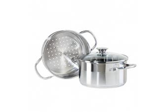 Oggi 5625 3-Piece Stainless Steel Vegetable Steamer Set