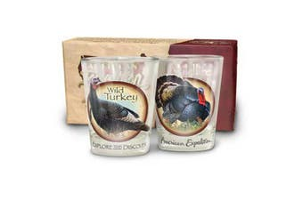 (Wild Turkey) - American Expedition Set of 2 Shot Glasses