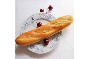 Gresorth 28cm PU Material Fake Cake Artificial French Long Bread Decoration Model Kitchen Toys Prop - 2pcs