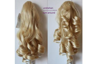 """(bleach blonde 613 H5-2) - PRETTYSHOP 20"""" & 120g Hair Piece Pony Tail Extension 2 IN 1 Curled Wavy Heat-Resisting Like Real Human Hair Diverse Colours"""