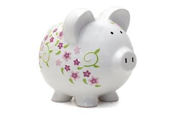 (Shabby Chic Design) - Child to Cherish Ceramic Piggy Bank for Girls, Shabby Chic