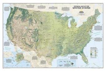 United States Physical, Tubed: Wall Maps U.S.