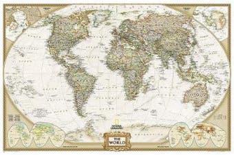 The World: Laminated Executive Line (World Maps S.)