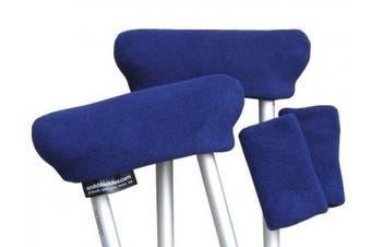 CrutchBuddies Blue Crutch Covers and Crutch Pads Made in USA, Veteran Owned