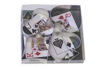 (Casino Cards) - R & M International 1865 Casino Playing Card Suits Cookie Cutters, Spade, Heart, Club, Diamond, 4-Piece Set