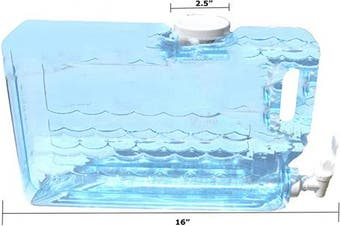 (1.25-Gal, Slimline) - Arrow Plastic 00745 Slimline Beverage Container, 4.7l