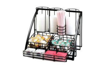 Cal-Mil 1715-13 Mission Black Wire Condiment / Lid Organiser