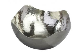 (15cm  x 15cm  x 7.6cm ) - Elegance Hammered Small Wave Stainless Steel Bowl