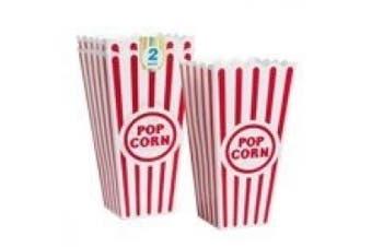 (1, multicolor) - Plastic Popcorn Containers - Set of 2