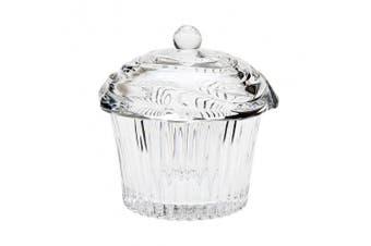 Godinger Crystal Cupcake Covered Candy Dish Box