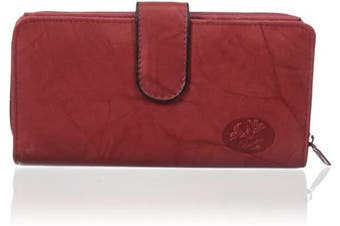 (Red) - Buxton Heiress Chequebook Case Wallet