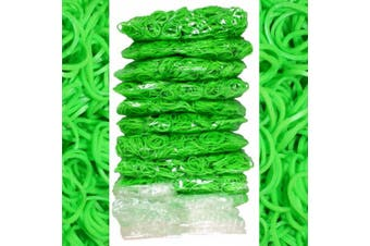 BlueDot Trading 6000-Piece Lime Green Rubber Band Kids Craft with Rainbow Bracelet Kit Refill Pack