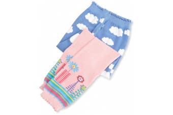 (6-18 Months, Pink) - Jefferies Socks, Llc Baby-Girls Newborn Clouds Capri