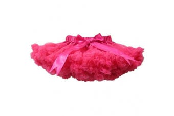 (9-10T, Hot Pink) - Buenos Ninos Girl's Dance Tutus Chiffon Pettiskirt Size 9-10T Hot Pink