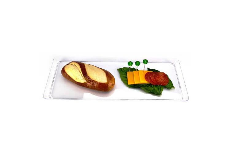 Creative Converting 39cm Rectangle Plastic Serving Tray, Clear