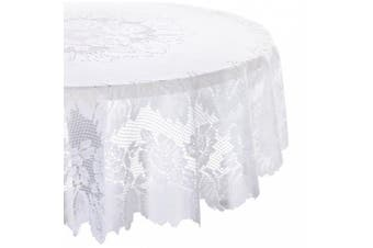 """(160cm  Round, Floral Lace) - DII 100-percent Polyester, Machine Washable Tablecloth Floral Lace 160cm Round"""""""