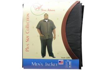(3X, Black) - A Size Above Men's Barber Jacket, 3X, Black