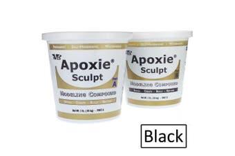 (1.8kg, Black) - Apoxie Sculpt 1.8kg. Black, 2 part modelling compound (A & B)