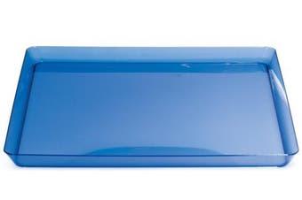 Creative Converting Square Plastic Serving Tray, 29cm , Translucent Blue