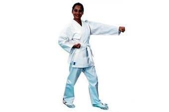 (Size 00 (1.2m - 1.2m / 27-39kg.), White) - ProForce 150ml Ultra Lightweight Student Uniform