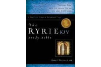 The Ryrie KJV Study Bible Bonded Leather Black Red Letter (Ryrie Study Bibles 2012)