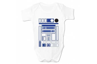 (18 - 24 Months, White) - Bang Tidy Clothing Babies R2 D2 Baby Grow
