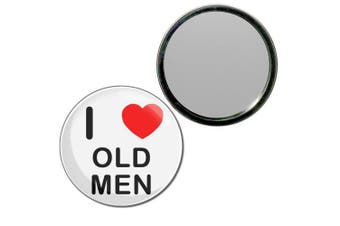 (55mm) - I Love Old Men - 55mm Round Compact Mirror