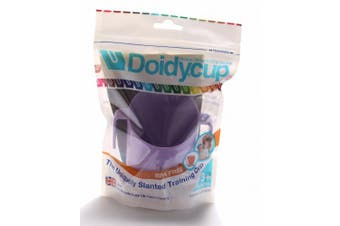 (lilac) - Doidy Cup - Training Sippy Cups for Toddlers & Babies - Unique Slanted Design Two Handles Baby Beaker - Great Weaning Cup for Milk, Water & Juice - Use from 3-6 Months to Toddler (Lilac)
