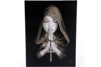 Fantastic Anne Stokes Design - Gothic Prayer - Canvas Picture on Frame Wall Plaque / Wall Art by ANNE STOKES