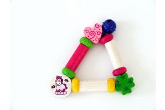 Hess Wooden Baby Toy Figurine Chain Clip On Bee Sina
