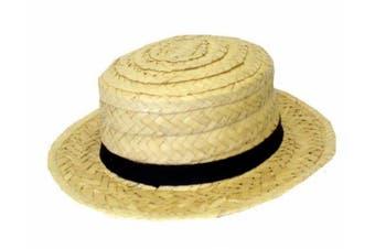 Star 55 School Straw Boater St Trinians Straw Hat Fancy Dress Costume Hat