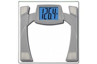 (Silver) - EatSmart Precision MaxView Digital Bathroom Scale w/ 11cm Backlit LCD Display